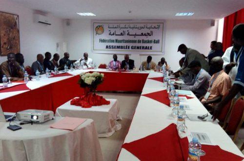 Article : Assemblée Générale de la Fédération mauritanienne de basket-ball : 2017 ou l'année de la construction
