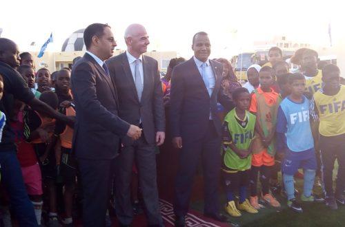 Article : Visite à Nouakchott de de M.Gianni Infantino, président de la FIFA : «la FFRIM est un exemple que nous montrerons aux autres fédérations africaines comme exemple de bonne gestion d'une association sportive »