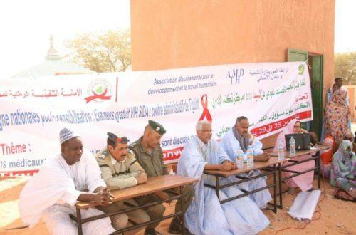 Article : Sensibilisation sur le Sida : l'Association mauritanienne pour le développement et l'action humanitaire a procédé à 200 dépistages volontaires à Tiguint