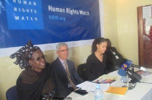 Article : Conférence de presse de Human Rights Watch : les «Taupes» ont réussi à faire capoter la séance