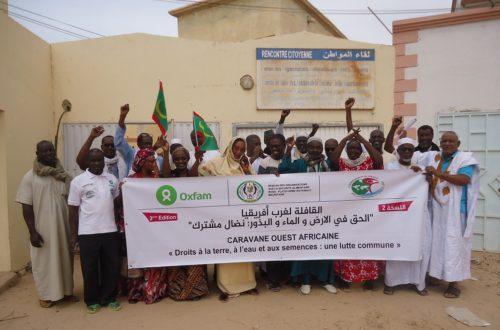 Article : Lancement à Nouakchott de la 2ème édition de la «Caravane ouest-africaine pour la Terre, l'Eau et les Semences »