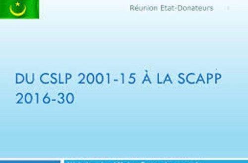 Article : Pas d'ancrage institutionnel de la SCAPP, pas de développement en Mauritanie
