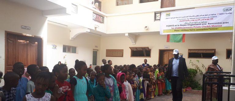 Article : 48ème anniversaire de l'OMVS, les journalistes animent une fête avec les élèves de l'école Cheikh Moussa