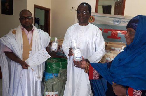 Article : Covid-19, l'UNFPA livre un lot de produits et matériels à SOS Esclaves