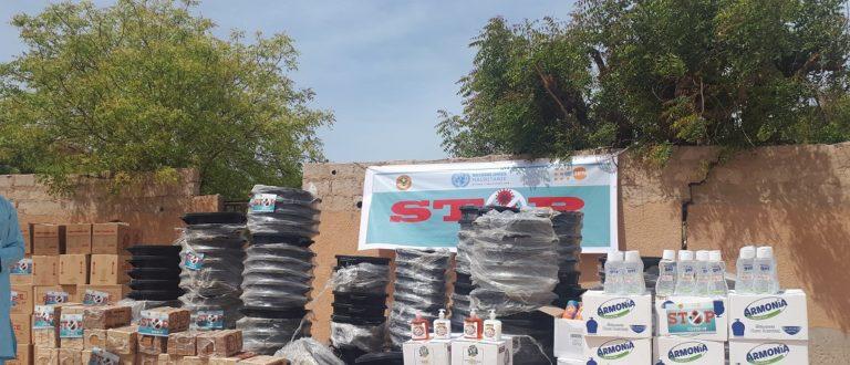 Article : Covid-19 en Mauritanie : l'UNFPA procède à de vastes distributions de désinfectants aux institutions publiques et aux acteurs de la société civile