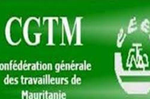 Article : Confédération Générale des Travailleurs de Mauritanie CGTM DECLARATION 1er MAI 2020