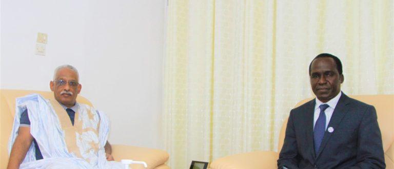 Article : L'ambassadeur Représentant Permanent de la Mauritanie auprès des Nations Unies en visite de courtoisie au Bureau UNFPA Mauritanie