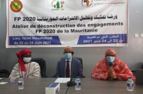 Article : FP 2020, déconstruire les engagements de la Mauritanie